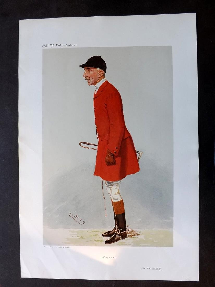 Vanity Fair Print 1906 Evan Hanbury, Fox Hunter
