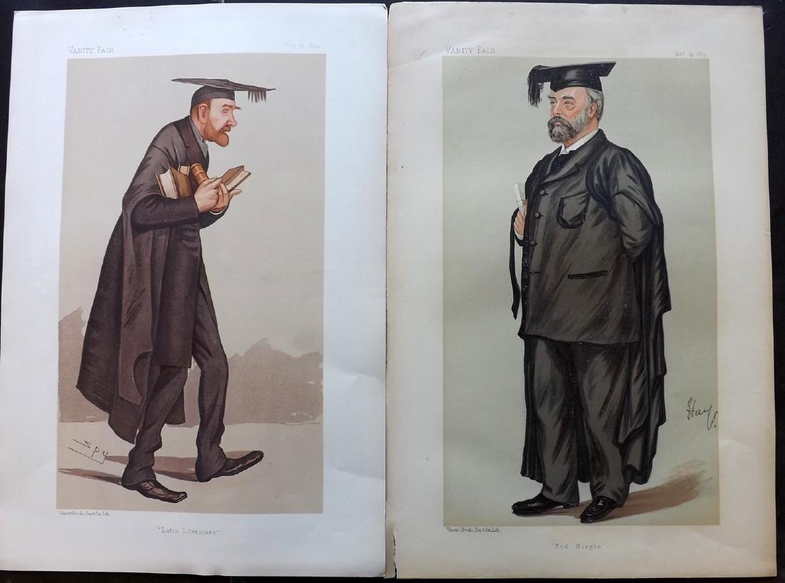 Vanity Fair Prints 1889-94 Pair Teachers. Spy Cartoons