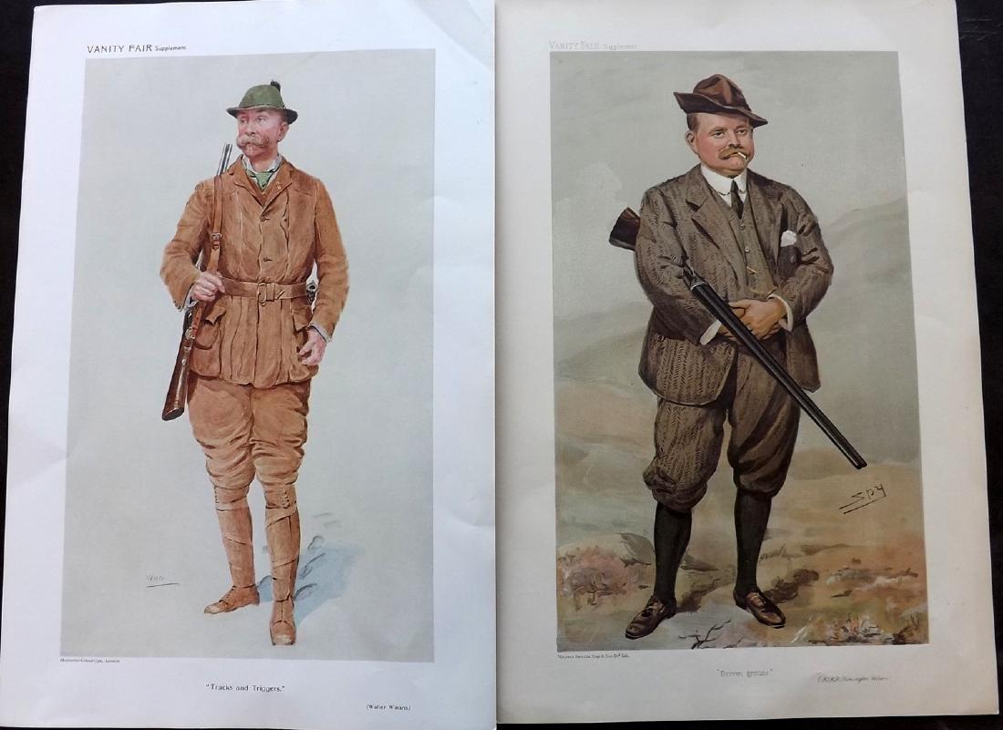 Vanity Fair Prints 1905-09 Pair of Game Hunters
