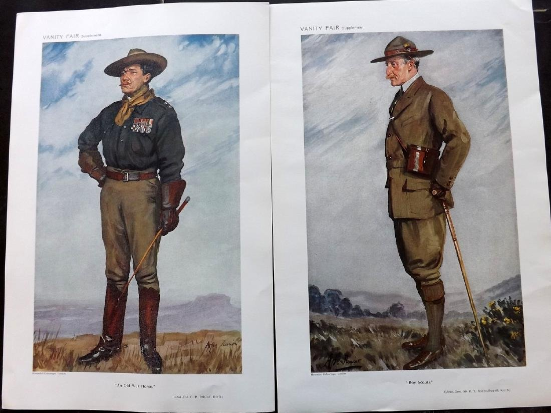 Vanity Fair Prints 1911 Driscoll & Baden-Powell Scouts