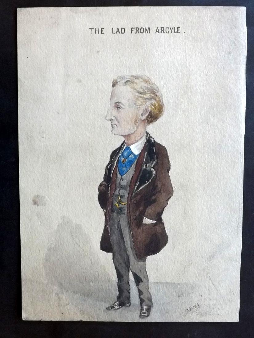 Original Art 19th Cent Watercolour. The Lad from Argyle