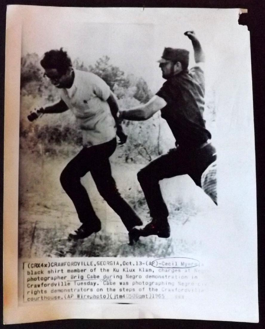 Press Photograph 1965 Cecil Myers Ku Klux Klan KKK