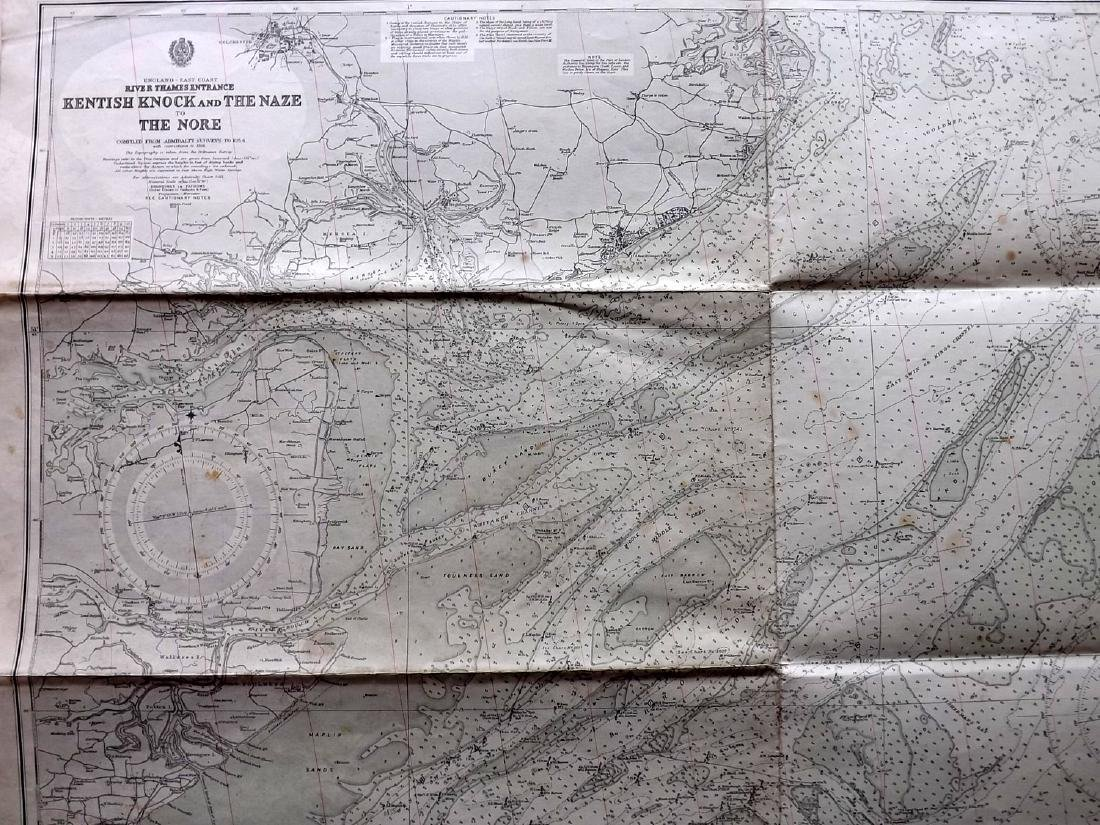 Admiralty Charts 1950's Lot of 4+. Large Maps - 3