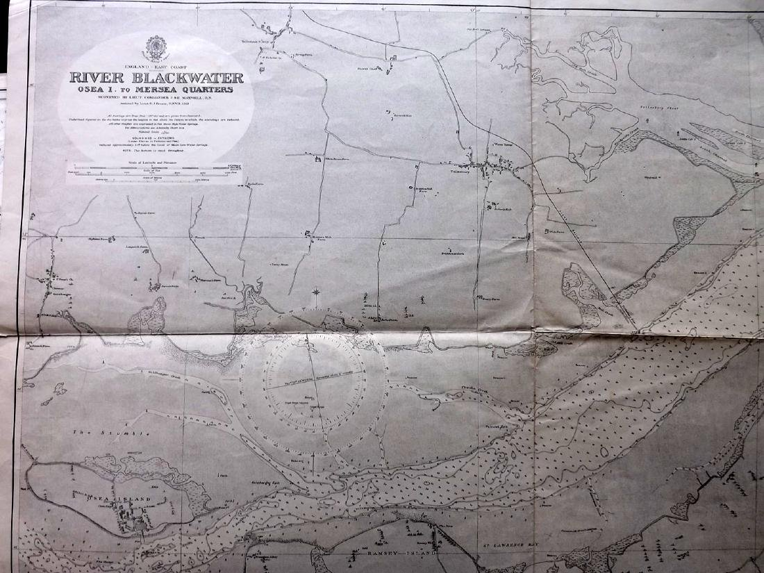 Admiralty Charts 1950's Lot of 4+. Large Maps - 4