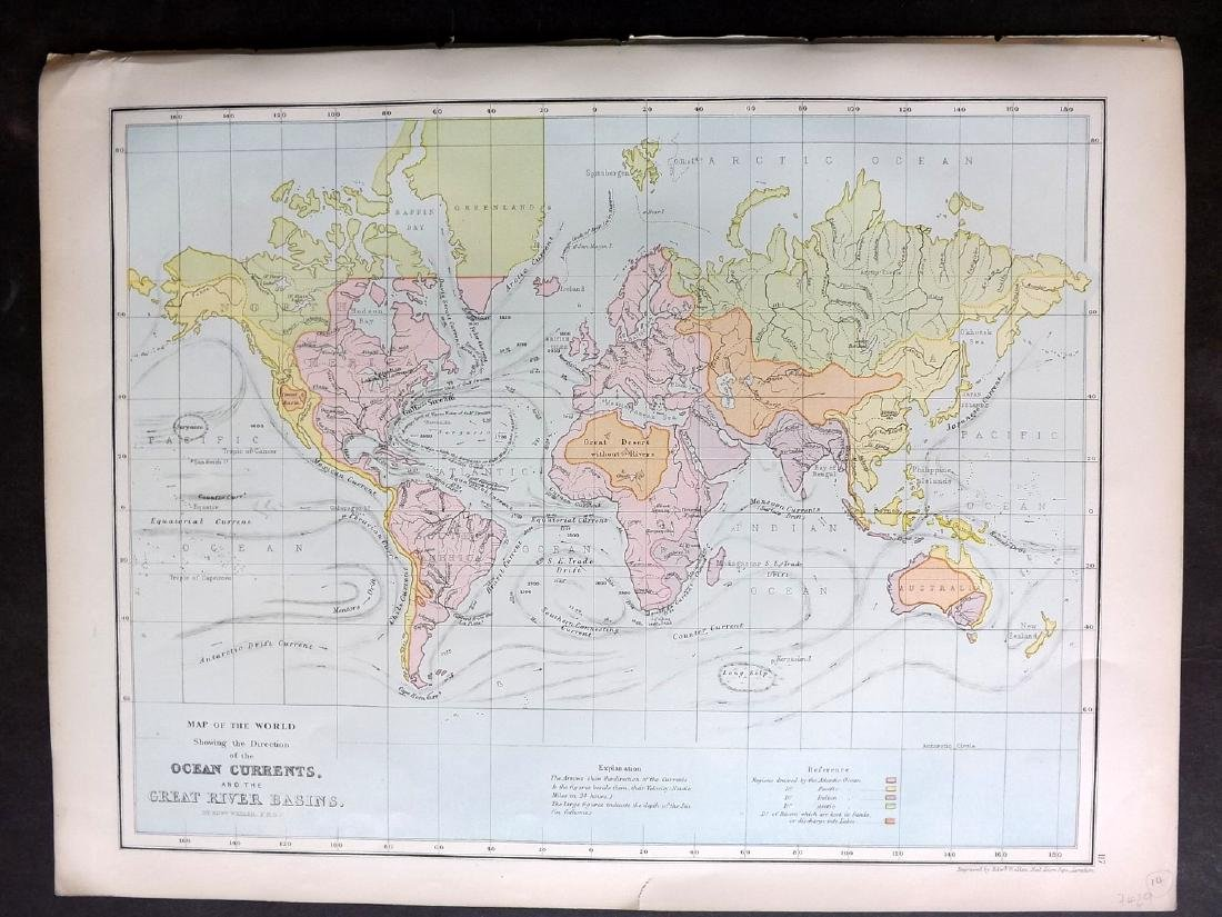 Bryce, James 1881 Map of World Ocean Currents
