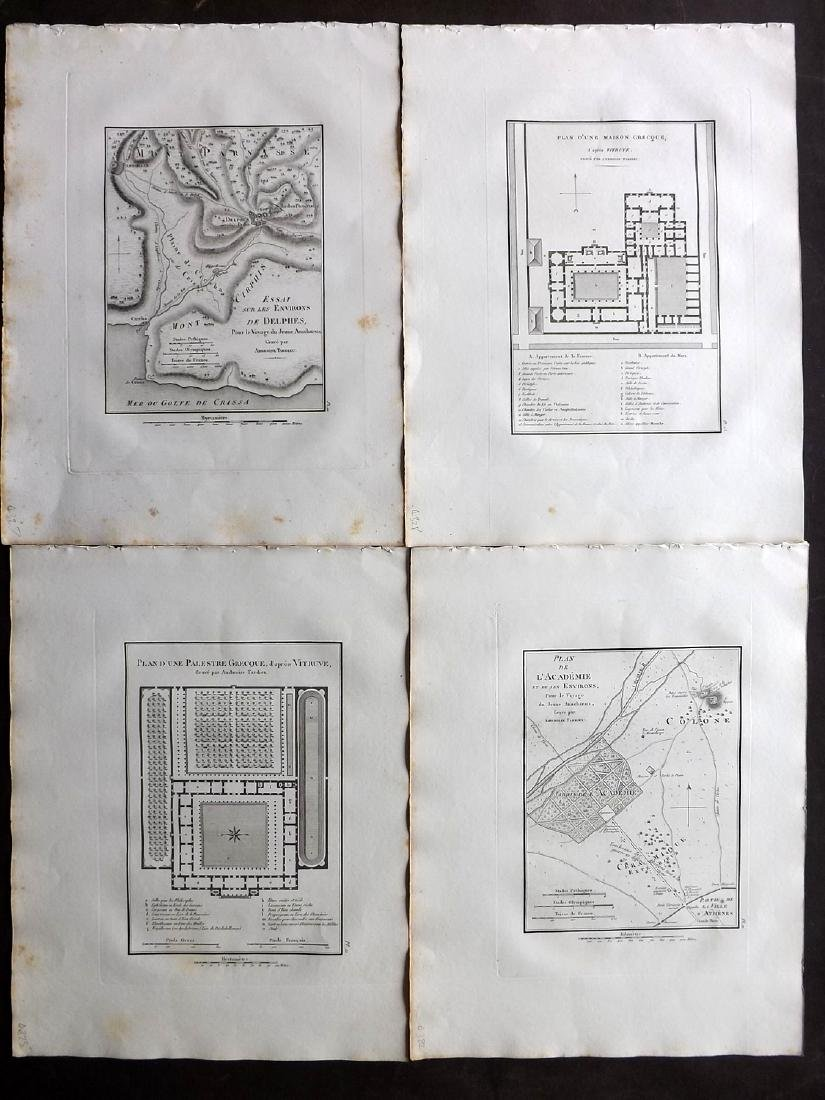 Greece 1824 Lot of 4 Maps by Barthelemy