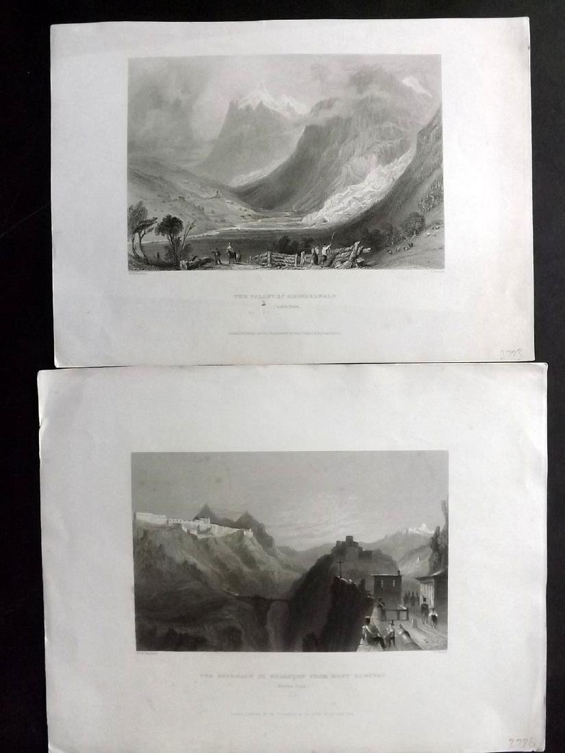 Bartlett, William C1838 Lot of 8 Prints. Switzerland - 2