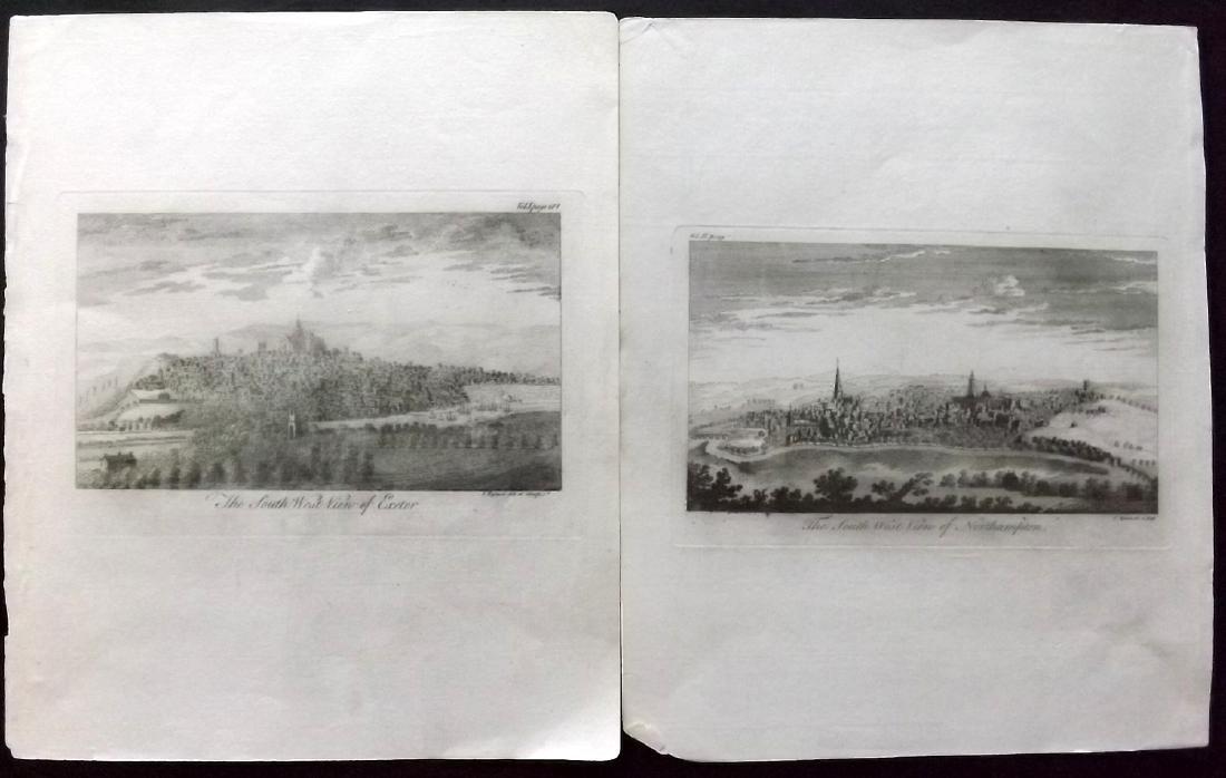 British Views 18th Century Lot of 13 Copper Plates - 2