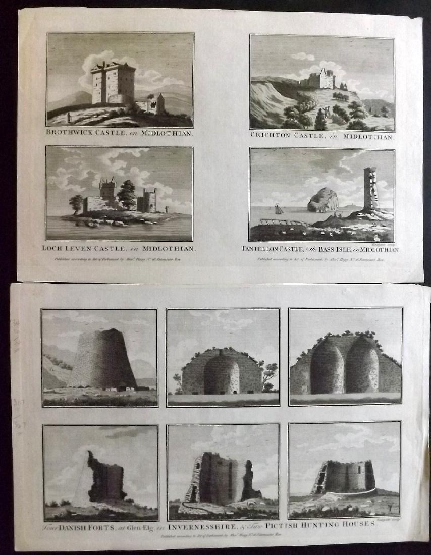 British Views 18th Century Lot of 13 Copper Plates - 3