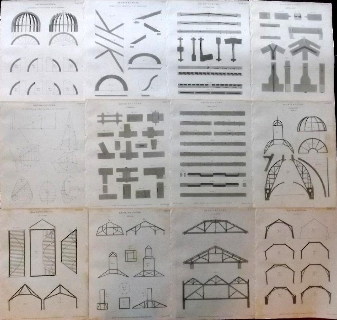 Rees, Abraham 1805 Lot 12 Architecture Carpentry Prints