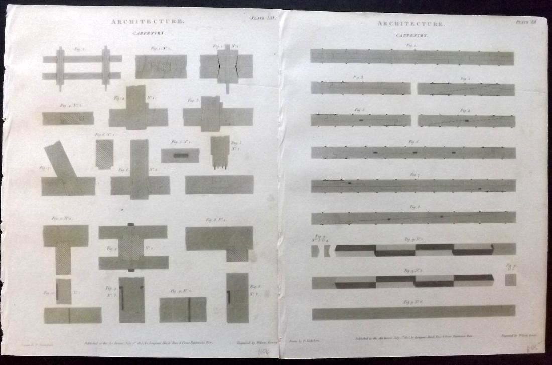 Rees, Abraham 1805 Lot 12 Architecture Carpentry Prints - 2