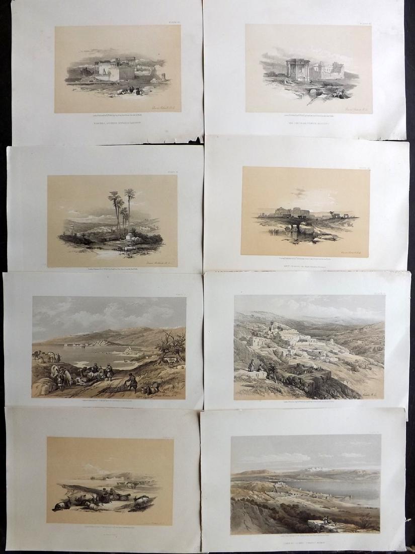 Roberts, David 1856 Lot of 8 Holy Land Prints