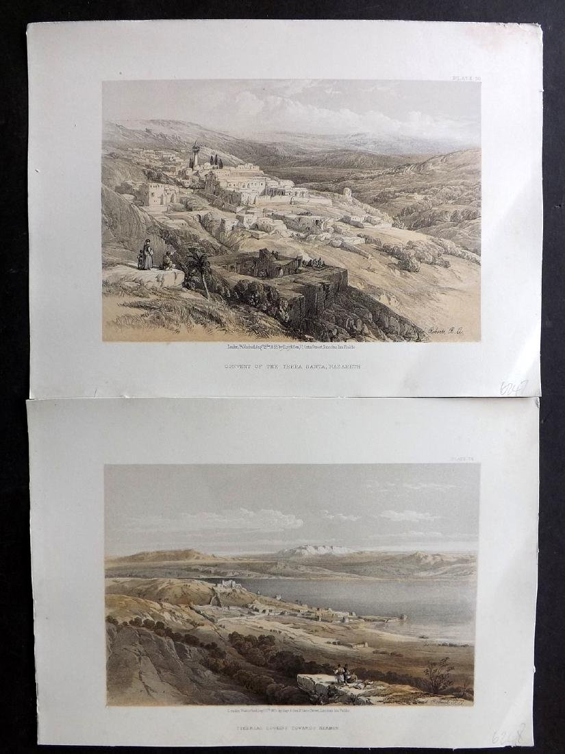 Roberts, David 1856 Lot of 8 Holy Land Prints - 2