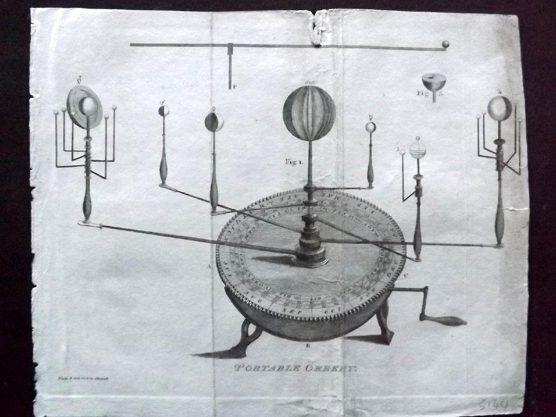 Astronomy, Celestial 1821 Lot of 8 Copper Plates - 2