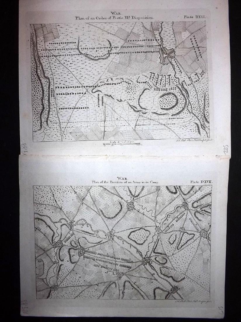 Encyclopaedia Britannica 1797 Lot 8 Military War Plans - 2