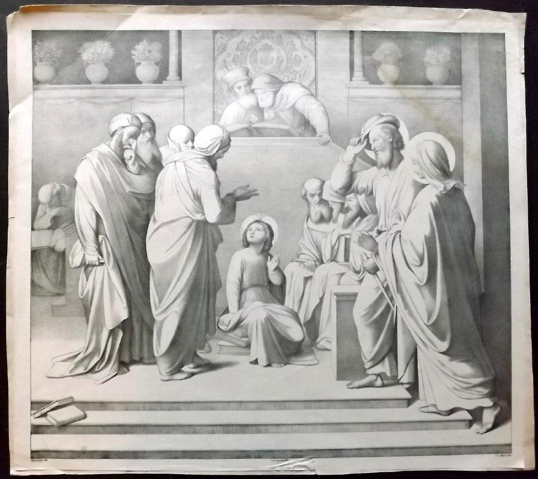 Koch. J. C after Johann Overbeck C1840 Print. Religious