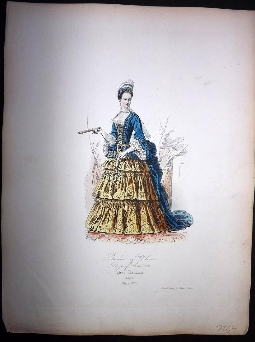 Pauquet, Hippolyte 1868 Lot of 6 Col French Costume - 2