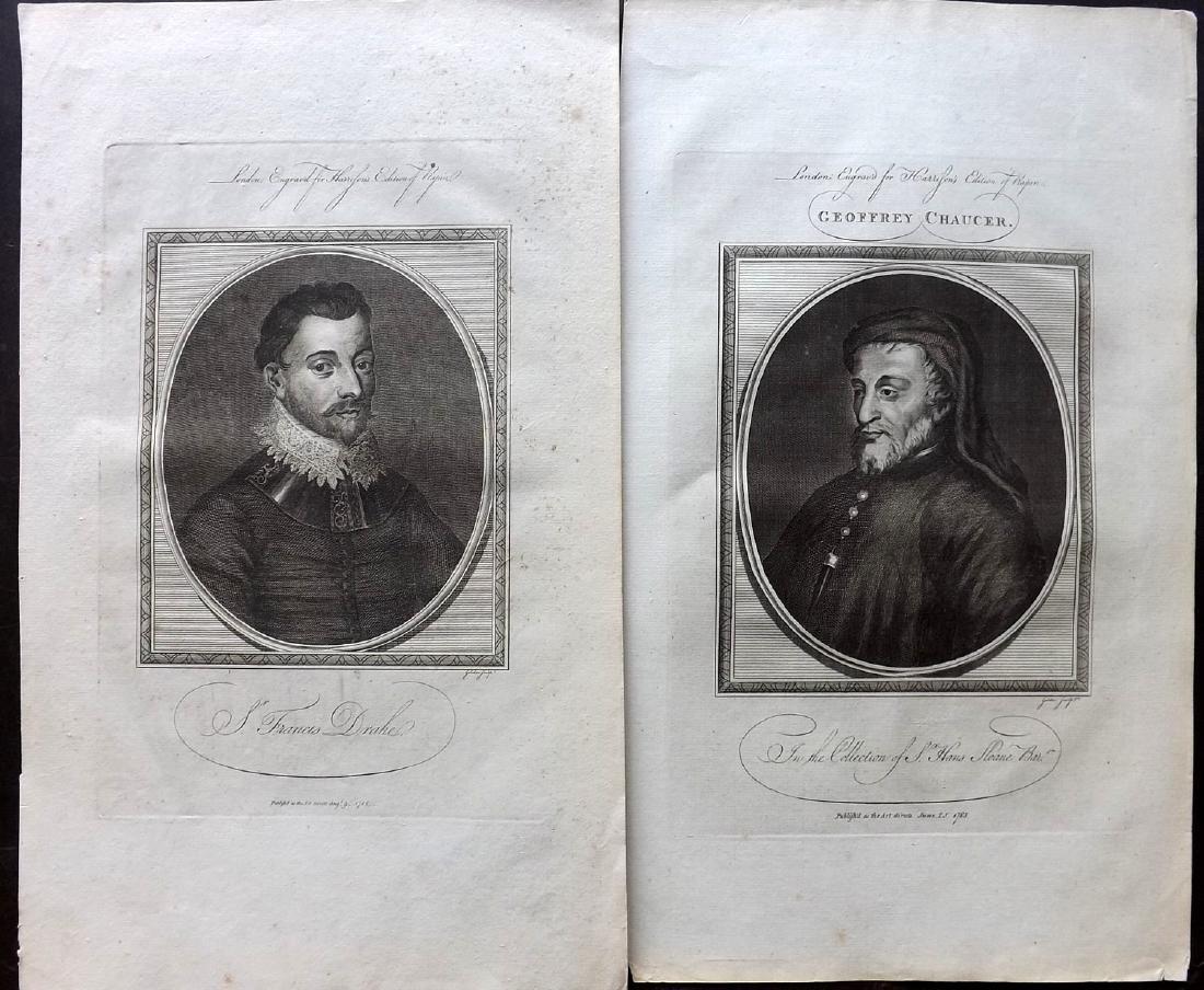 Portraits 18th Century Lot of 10 Folio Copper Plates - 2