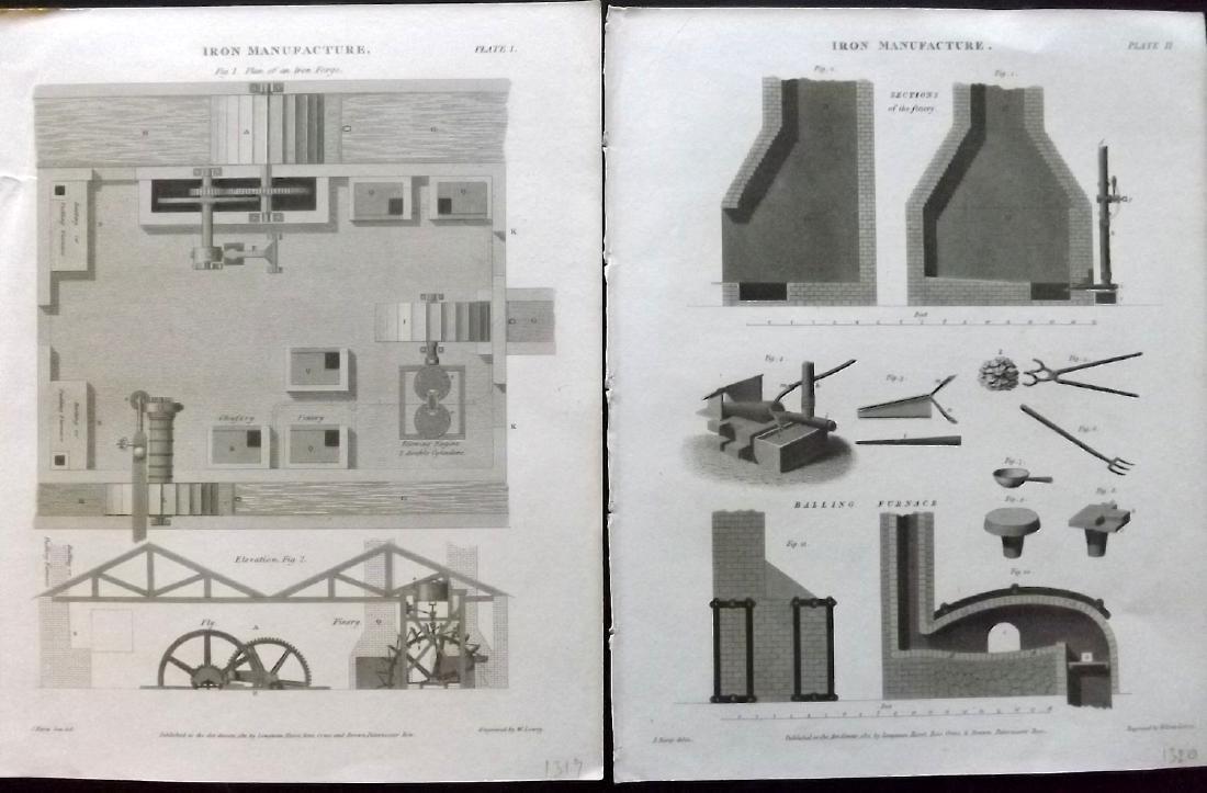 Rees, Abraham C1810 Lot of 14 Science & Tech Prints - 2