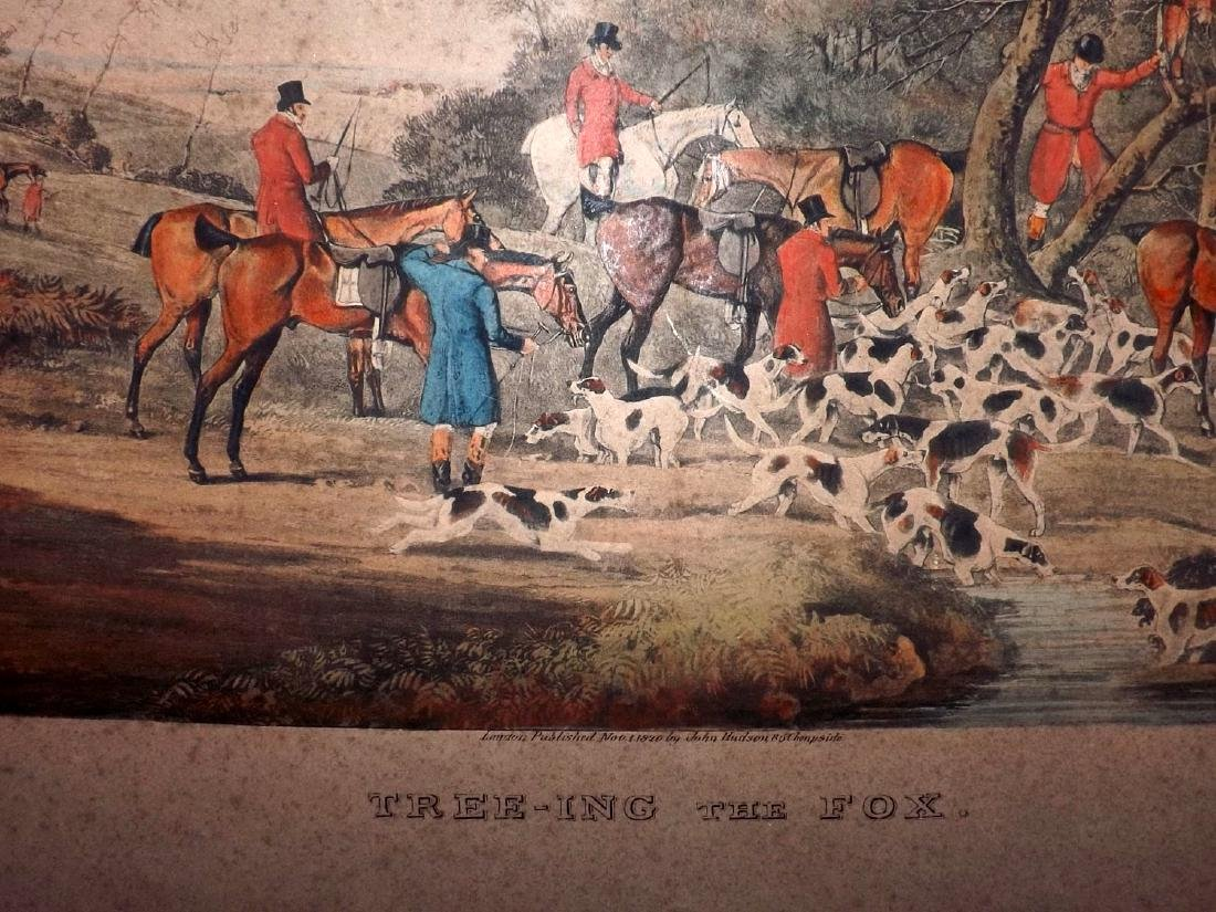 Sutherland after Alken 1820 Large HCol Foxhunting Print - 2