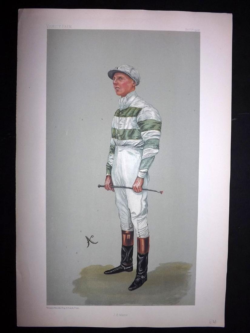 Vanity Fair Print 1887 J. E. Watts, Jockey Horse Racing