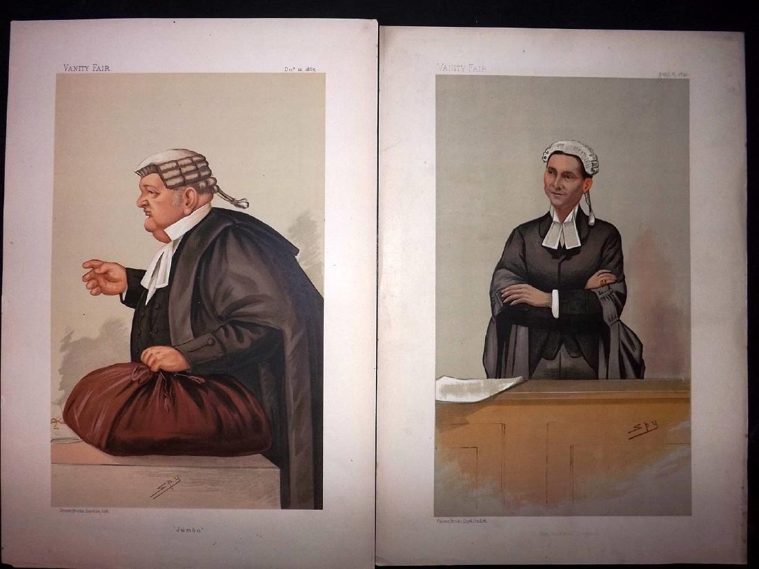 Vanity Fair Prints 1885-92 Pair of Legal Wigged