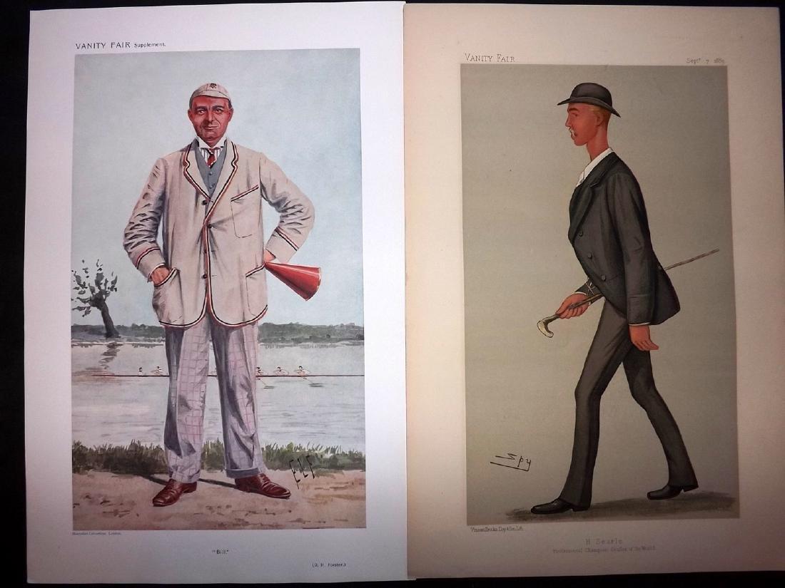 Vanity Fair Prints 1889-1910 Pair of Rowers