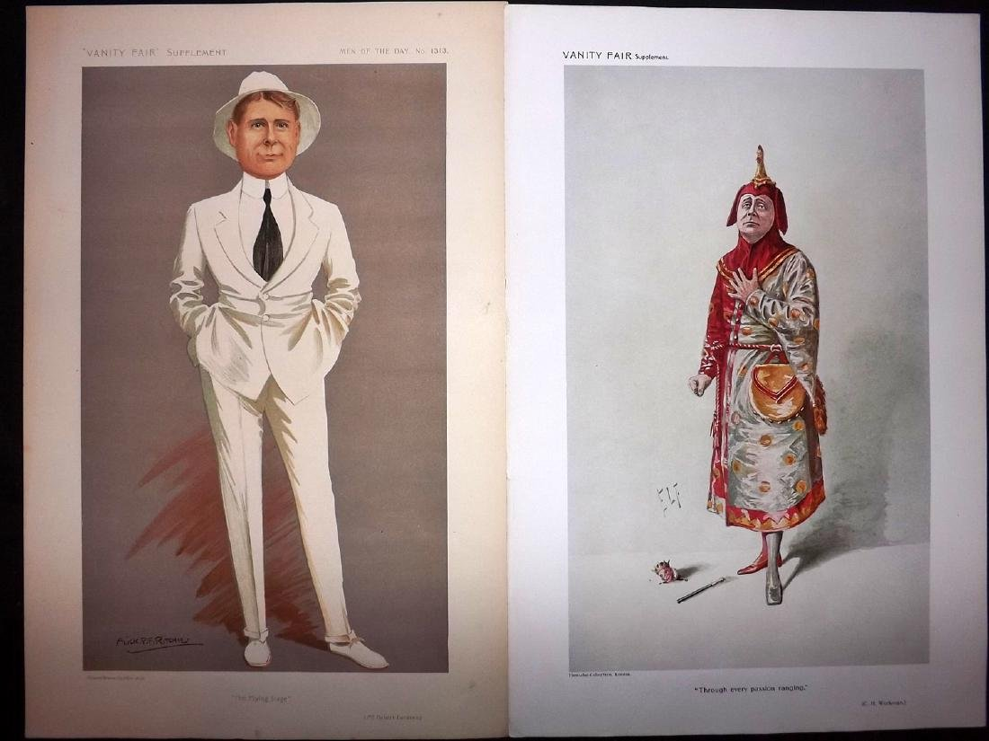 Vanity Fair Prints 1910-13 Pair of Theatre