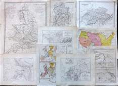 Maps 19th Century Mixed Lot of 9