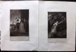 Boydell John 1790s Pair of Folio Shakespeare Prints