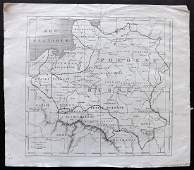 Poland C1850 Antique Map from LUnivers