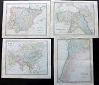 Wyld, James C1840 Group of 4 Hand Coloured Maps