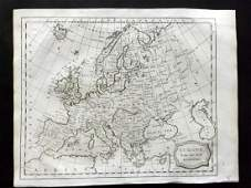 Barlow 1807 Antique Map of Europe Continent