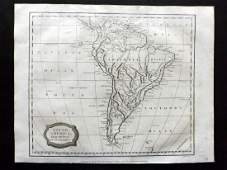 Barlow 1807 Antique Map of South America Continent