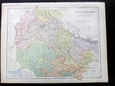 Bryce James 1881 Map of Bengal India
