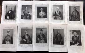 Crimean War 1858 Lot of 18 Military  Portrait Prints