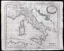 Barlow 1807 Antique Map of Italy