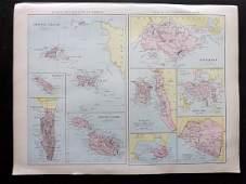Bryce James 1881 Map of Islands Singapore Hong Kong