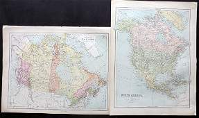 Bryce, James 1881 Pair of Maps of North America, Canada