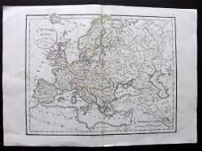 Delamarche, Felix 1829 Map of Europe Continent