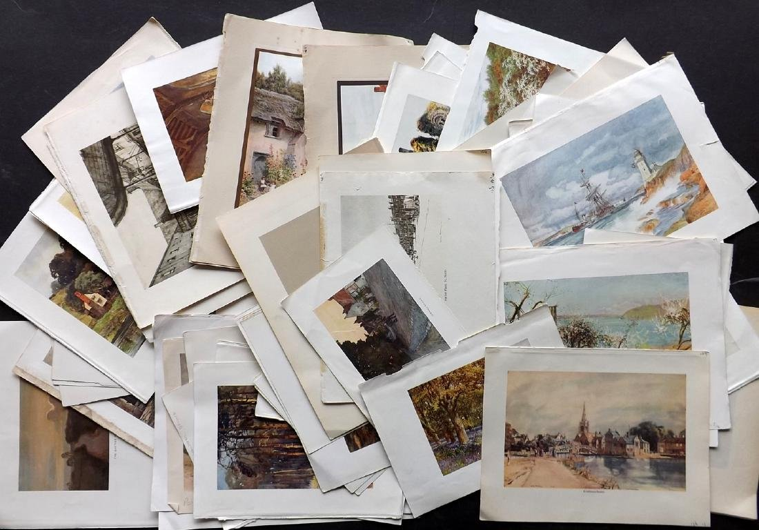 British Views C1930 Lot of 60 Colour Prints