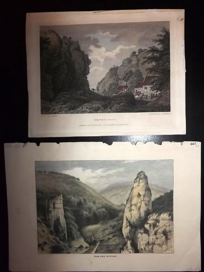 Hand Coloured British Views 19th Cent Lot of 8 - 2