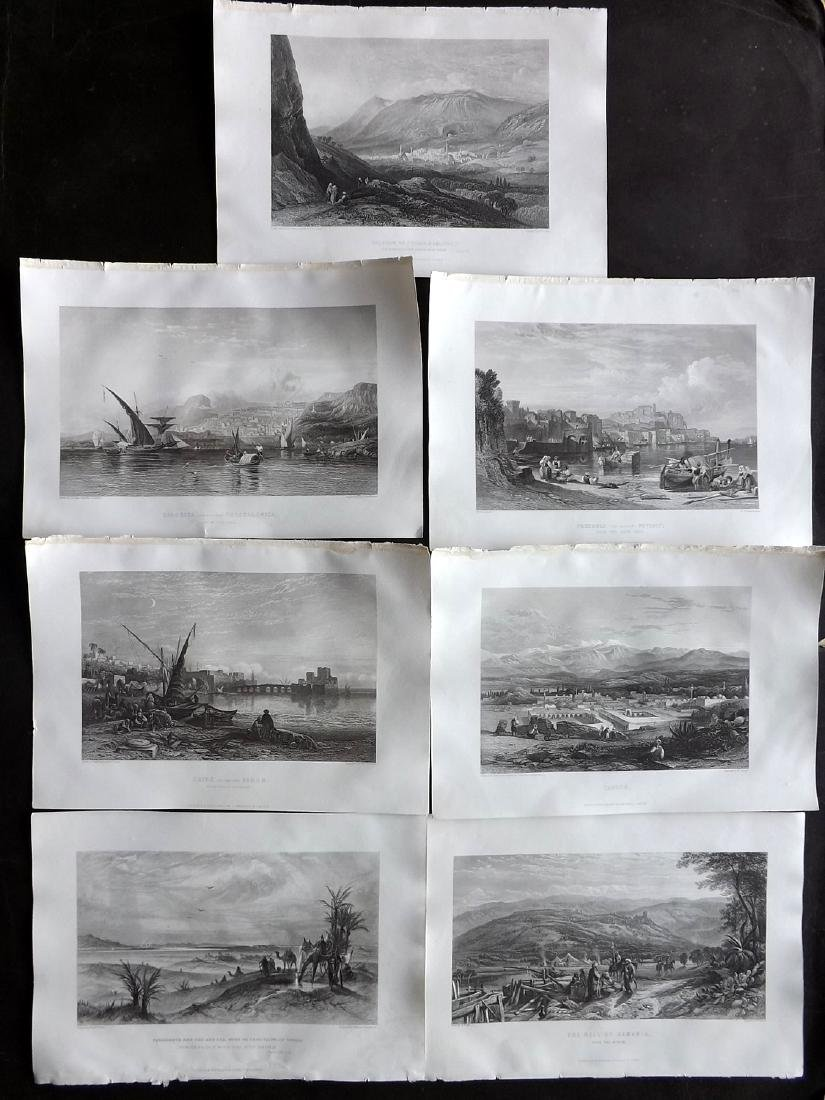 Holy Land, Italy & Greece 1866 Lot of 7 Views by