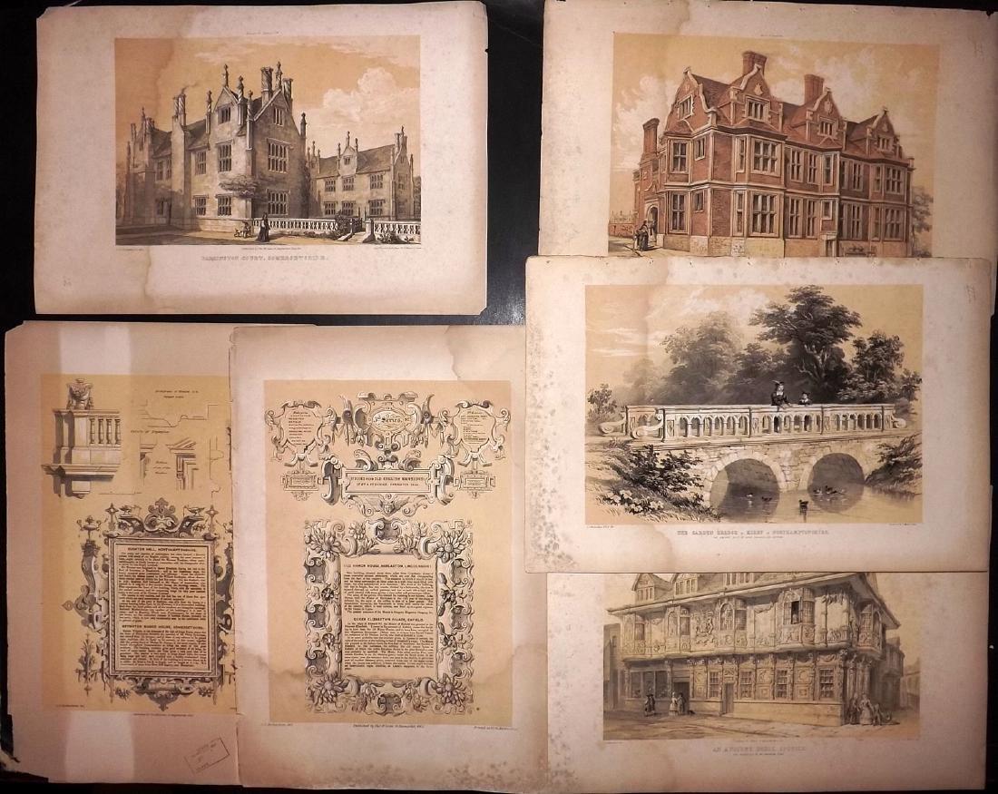 Richardson, Charles 1848 Lot of 5 Large Prints