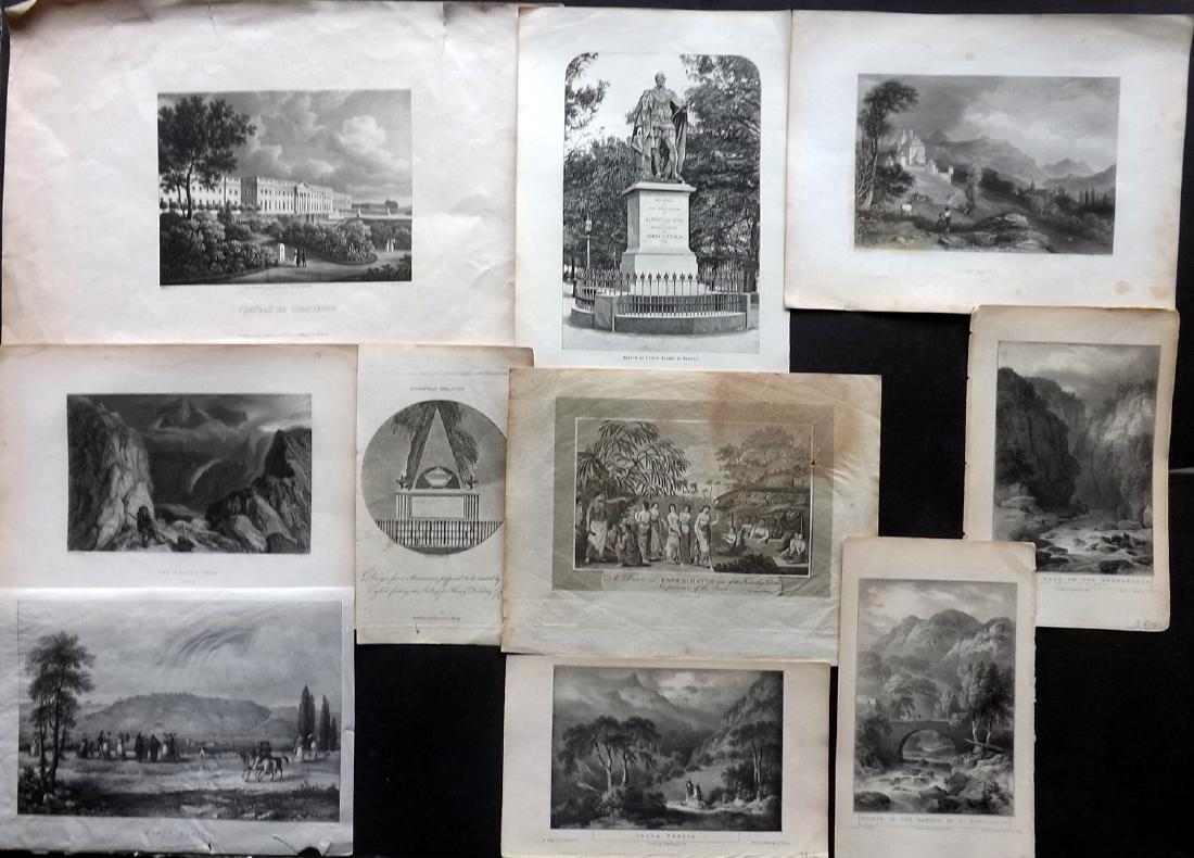 Travel 1793-1886 Mixed Lot of 10 Prints