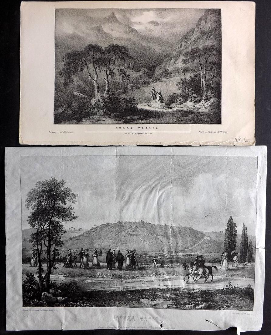 Travel 1793-1886 Mixed Lot of 10 Prints - 2