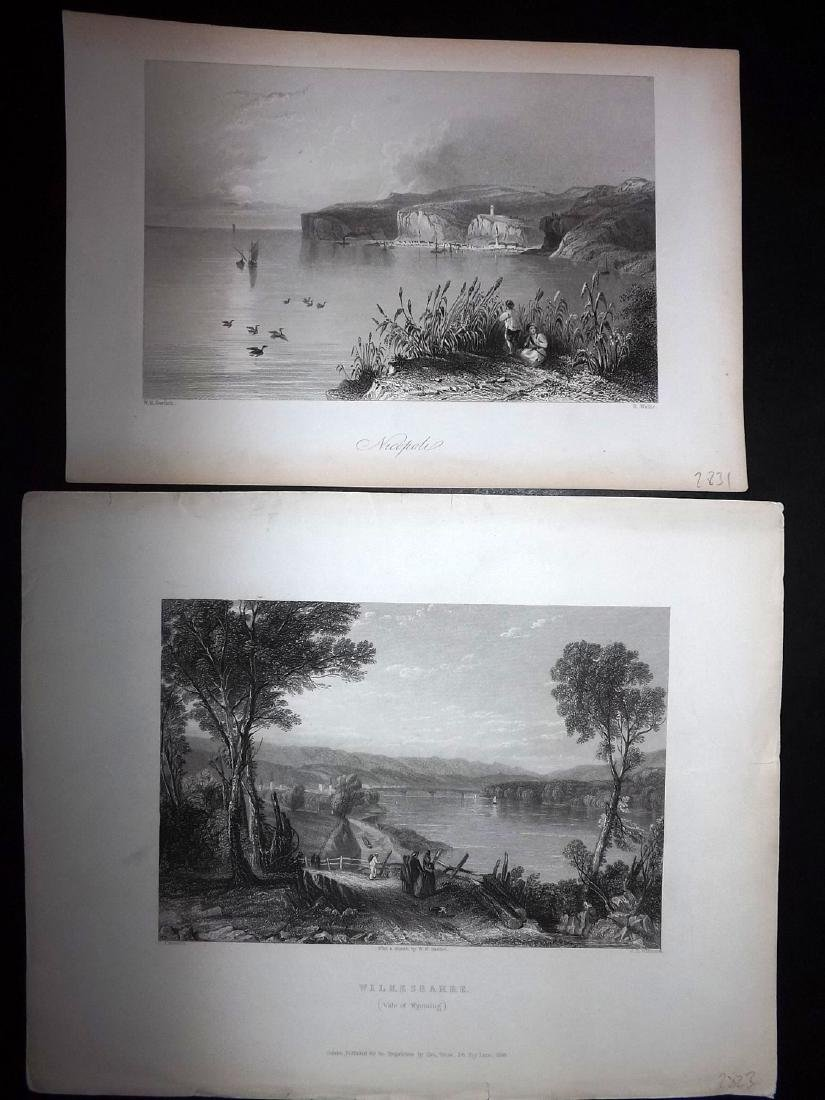 World Views 19th Cent Lot of 10 Steel Engravings - 2