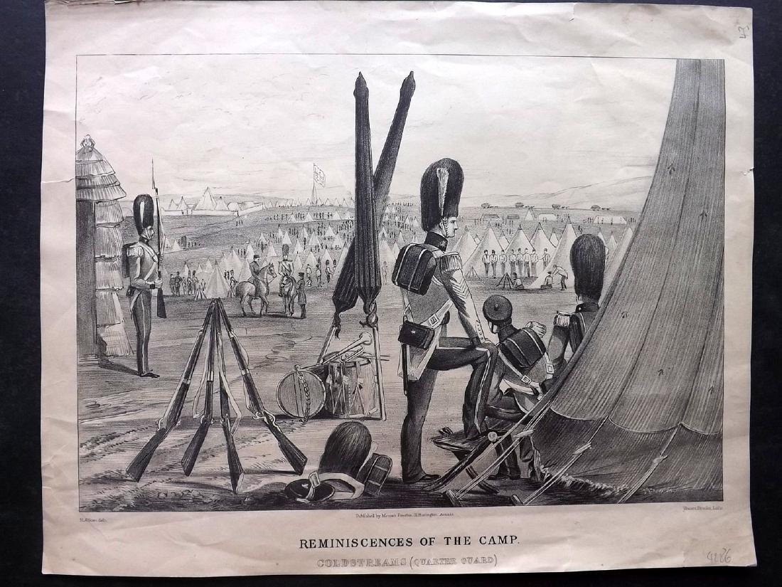 Alken, Henry 1853 Military Print. Coldstream Guards