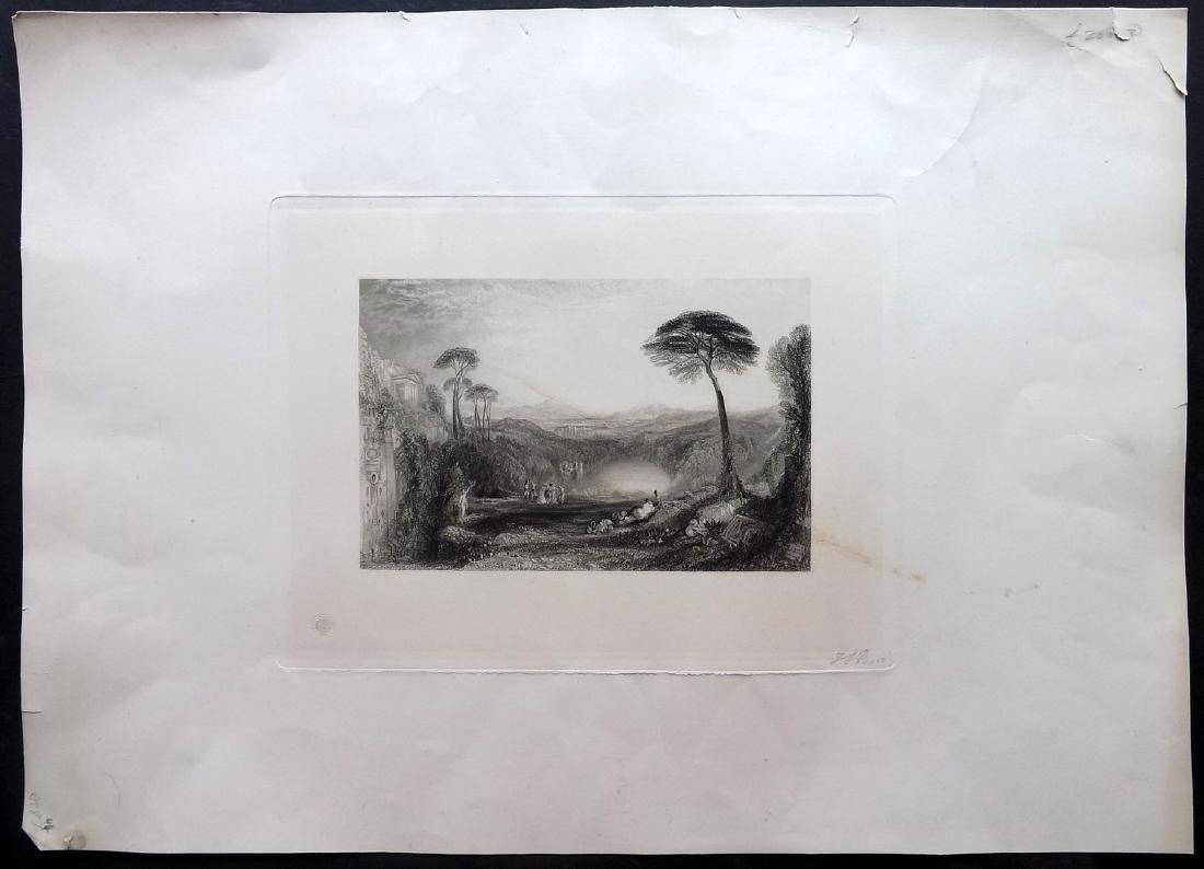 Anon C1860 LG Folio Print. Italianate Landscape