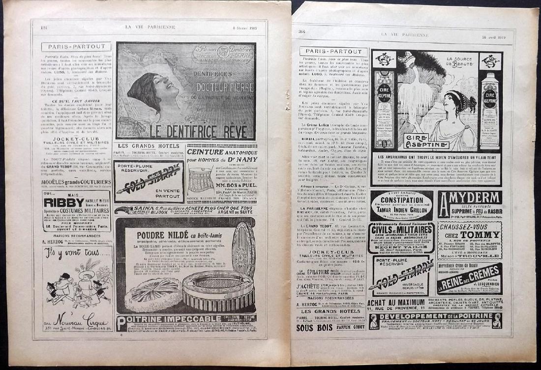 Art Deco Adverts 1920's Lot of 100. La Vie Parisienne - 3